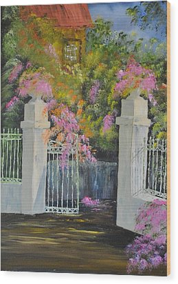 Italian Garden Wood Print by James Higgins
