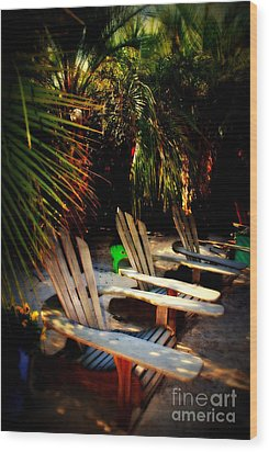 Its Margarita Time In Paradise Wood Print by Susanne Van Hulst