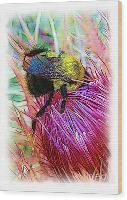 I've Fallen Into A Thistle And I Can't Get Out Wood Print by Judi Bagwell