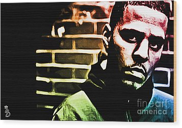 J Cole Wood Print by The DigArtisT