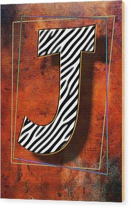 J Wood Print by Mauro Celotti