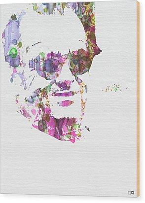 Jack Nicolson 2 Wood Print by Naxart Studio