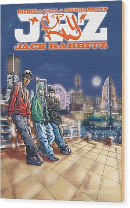 Jack Rabbitz Fly Wood Print by Tuan HollaBack