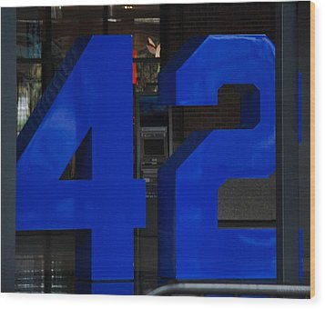 Jackie Robinson 42 Wood Print by Rob Hans