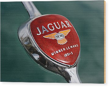 Jaguar Winner Le Mans Wood Print by Kristan Barnes