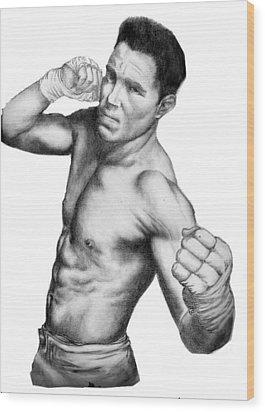 Jake Shields - Strikeforce Champion Wood Print by Audrey Snead