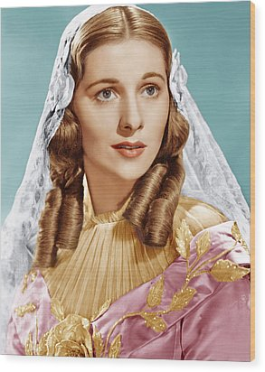 Jane Eyre, Joan Fontaine, 1943 Wood Print by Everett