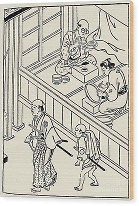 Japan: Samurai, 1700 Wood Print by Granger