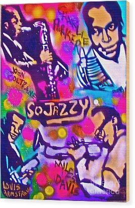 Jazz 4 All Wood Print by Tony B Conscious