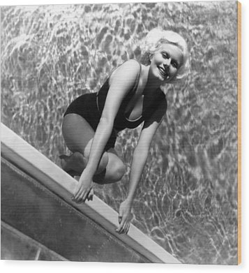 Jean Harlow, Mgm, Ca. Early 1930s Wood Print by Everett