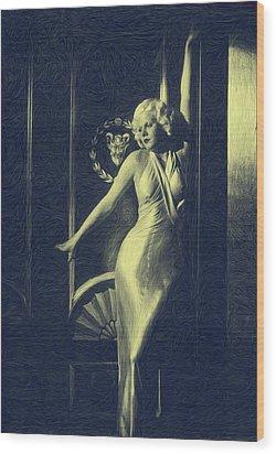 Jean Harlowe Wood Print by Dwayne  Graham