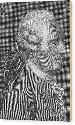 Jean Le Rond Dalembert, French Polymath Wood Print by Science Source