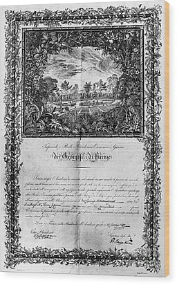 Jefferson: Degree, 1820 Wood Print by Granger