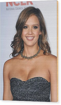 Jessica Alba At Arrivals For 2011 Nclr Wood Print by Everett