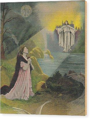 Jesus Appears Wood Print by Anne Cameron Cutri
