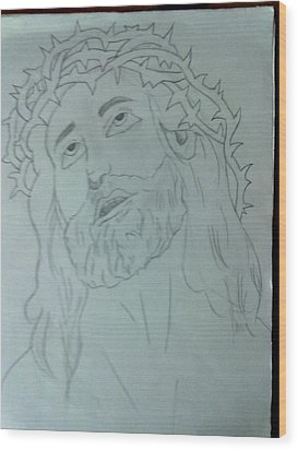 Jesus Wood Print by Bishoy Girgis