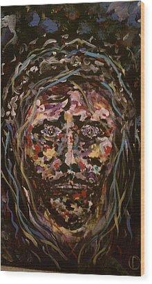 Jesus Christ Wood Print by David Nagel