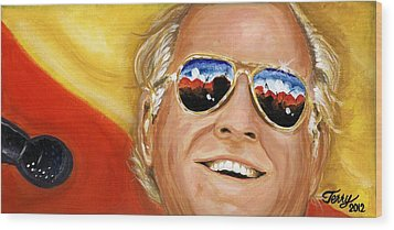 Jimmy Buffet At The Jazz Fest Wood Print by Terry J Marks Sr