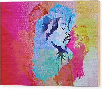Jimmy Hendrix Wood Print by Naxart Studio