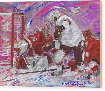 Jimmy Howard II Wood Print by Donald Pavlica