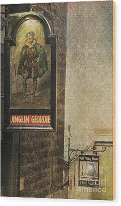 Jinglin' Geordie Wood Print by Marion Galt