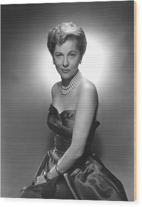 Joan Fontaine, Ca. 1950s Wood Print by Everett