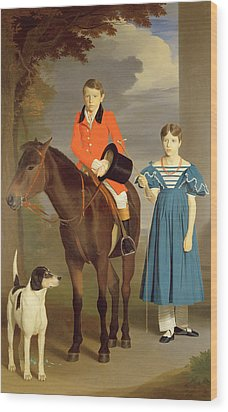 John Gubbins Newton And His Sister Mary Wood Print by Robert Burnard