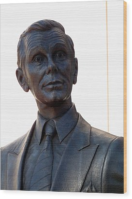 Johnny Carson Wood Print by Jeff Lowe