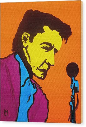 Johnny Pop IIi Wood Print by Pete Maier