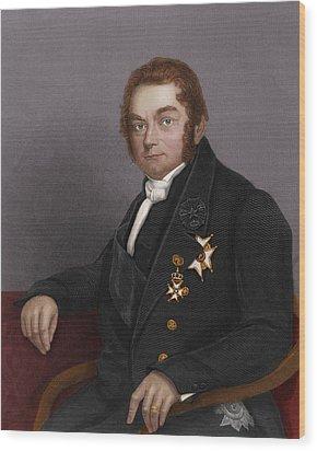 Jons Jacob Berzelius, Swedish Chemist Wood Print by Maria Platt-evans