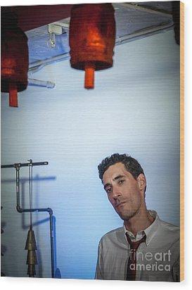 Jordan Mcclean Of Droid Wood Print by Jim DeLillo