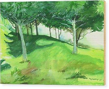 Jungle 2 Wood Print by Anil Nene