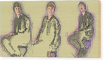 Justin Bieber 40 Wood Print by Jez C Self
