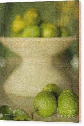 Kaffir Limes Wood Print by Linde Townsend
