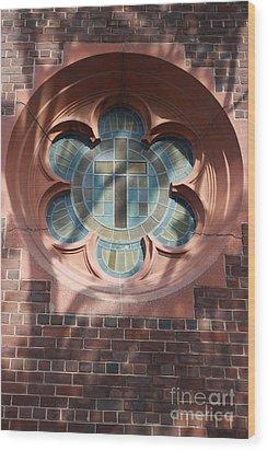 Keep The Faith Wood Print by Ted Wheaton