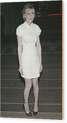 Kirsten Dunst Wearing A Miu Miu Dress Wood Print by Everett