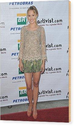 Kristen Bell Wearing An Alberta Wood Print by Everett