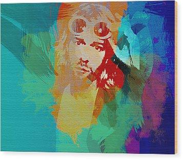 Kurt Cobain Wood Print by Naxart Studio