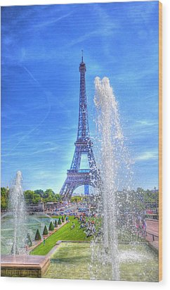 La Dame De Fer Wood Print by Barry R Jones Jr