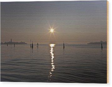 lagoon of Venice Wood Print by Joana Kruse