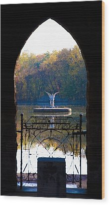 Lake Angel Wood Print by Bill Cannon