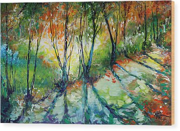 Lake Forest Hills Wood Print by Marcia Baldwin