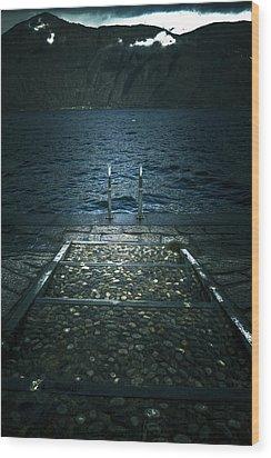 Lake In The Winter Wood Print by Joana Kruse