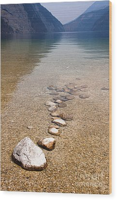 Lakestones Wood Print by Andrew  Michael