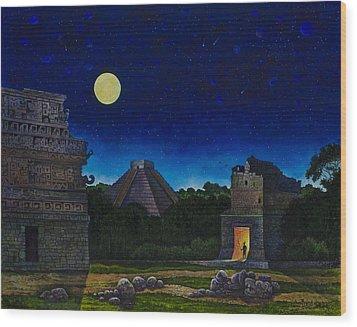 Land Of The Maya Wood Print by Michael Frank