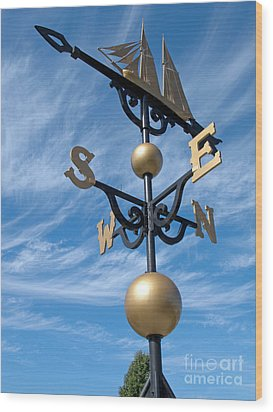 Largest Weathervane Wood Print by Ann Horn
