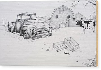 Late Season Apples Wood Print by Scott Nelson
