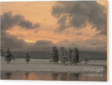 Late Spring Storm In Yellowstone Wood Print by Sandra Bronstein
