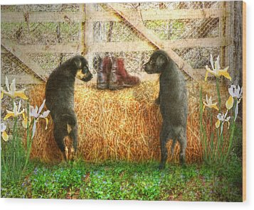 Lead Me Not Into Temptation  Wood Print by Trudi Simmonds