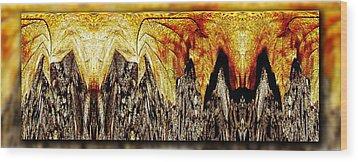 Leaf Meld Wood Print by Tim Allen